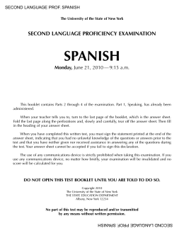 SPANISH - Regents Exams
