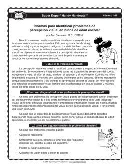 Normas para identificar problemas de percepción visual en niños de