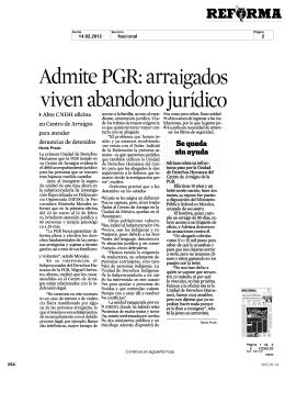Admite PGR arraigados