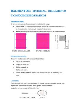 bádminton: material, reglamento y conocimientos básicos