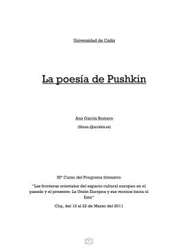 La poesía de Pushkin