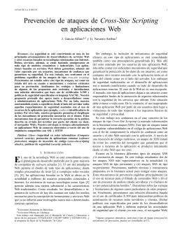 Prevención de ataques de Cross-Site Scripting en aplicaciones Web