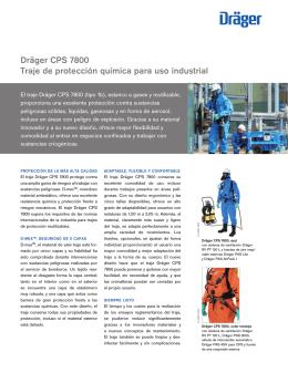 Dräger CPS 7800 Traje de protección química para uso industrial