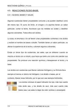 4.5. REACCIONES ÁCIDO-BASE.