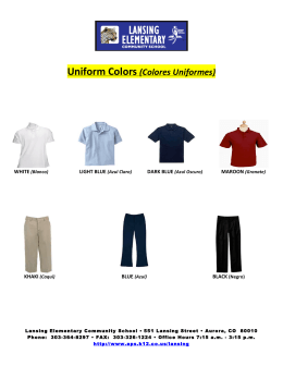 Uniform Colors (Colores Uniformes)