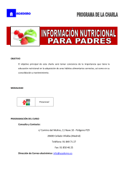 Consulta y Contacto: c/ Camino del Molino, 11 Nave 10