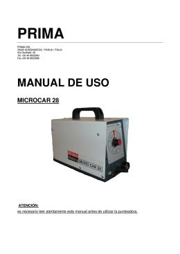 manual de uso microcar 28