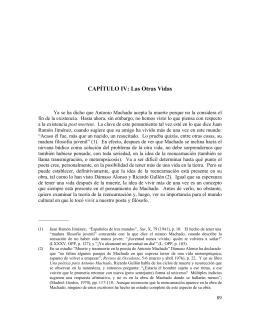 CAPÍTULO IV: Las Otras Vidas