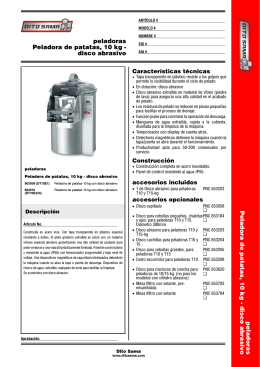 peladoras Peladora de patatas, 10 kg - disco abrasivo