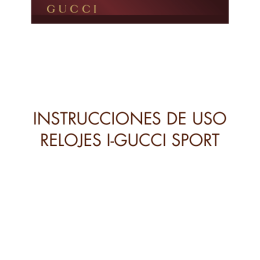 instrucciones de uso relojes i-gucci sport