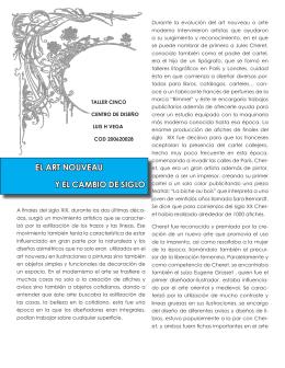 el art nouveau y el cambio de siglo - TALLER5-HISTDISENO8A-B