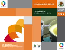 Nixtamalización de Maíz - Secretaría del Trabajo y Previsión Social