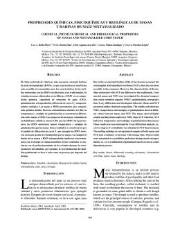 propiedades químicas, fisicoquímicas y reológicas de masas y