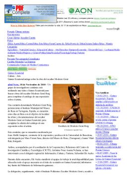 afrol News - Guinea Ecuatorial indaga sobre la obra del