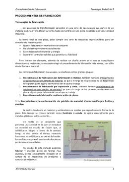 PROCEDIMIENTOS DE FABRICACIÓN