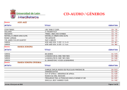 CD-Audio Géneros (archivo pdf)