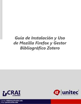 Descargar Uso del Gestor Bibliográfico Zotero y Mozilla