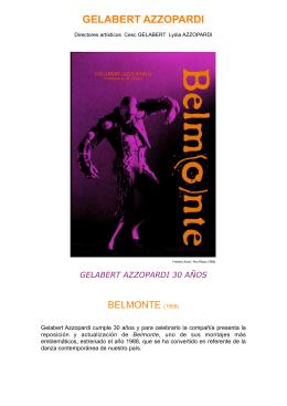 CAST Belmonte Programa Ficha artistica