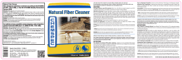 Natural Fiber Cleaner