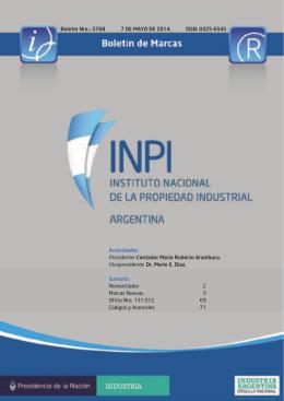 ISSN: 0325-6545 Boletín Nro.: 3768 Autoridades Presidente
