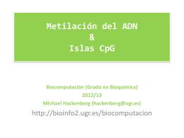 Islas CpG &Metilación de ADN