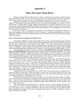 When Was Jesus Christ Born? - Christian Biblical Church of God