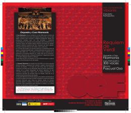 Programa de mano Requiem Verdi 2
