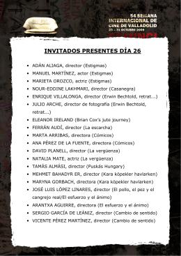 INVITADOS PRESENTES DÍA 26