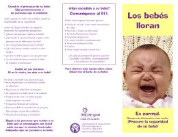 Los bebés lloran