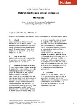 Leer en español: Mala suerte - Material didáctico
