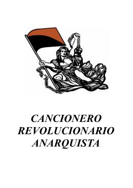 CANCIONERO REVOLUCIONARIO ANARQUISTA - CNT
