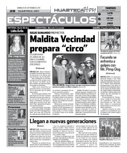 """maldita Vecindad prepara """"circo"""""""