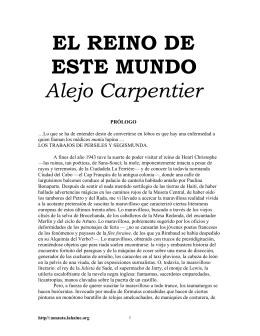 EL REINO DE ESTE MUNDO Alejo Carpentier