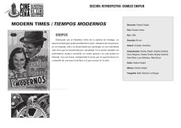 MODern tIMeS / tiemPos moDernos