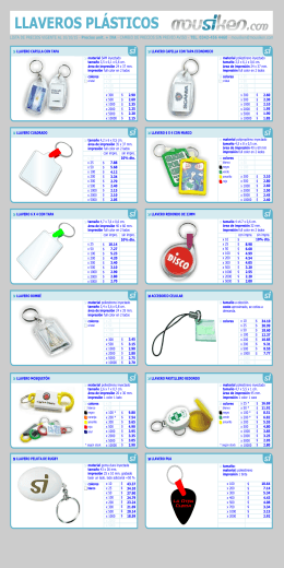 Lista de precios LLAVEROS