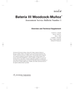 Batería III Woodcock-Muñoz™