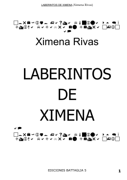 LABERINTOS DE XIMENA