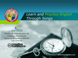 Learn and Practice English Through Songs