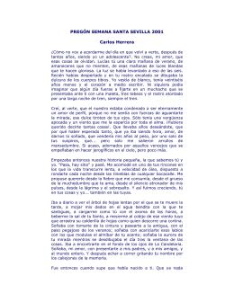 PREGÓN SEMANA SANTA SEVILLA 2001 Carlos Herrera