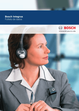 Bosch Integrus Folleto de datos