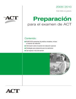 Preparación para el examen de ACT