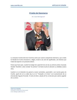 El éxito de Gianmarco