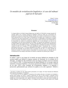 Un modelo de revitalización lingüística: el caso del náhuat/ pipil de