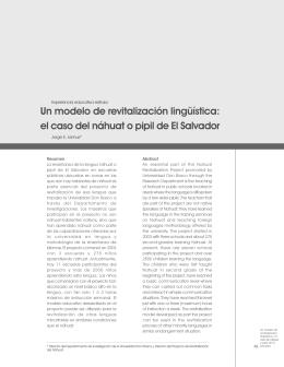Un modelo de revitalización lingüística: el caso del náhuat o pipil de