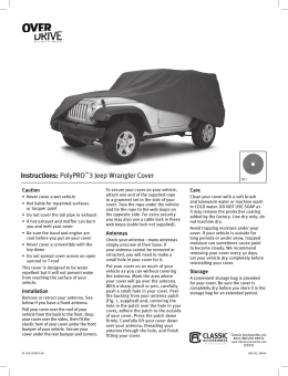 Instructions: PolyPRO™3 Jeep Wrangler Cover