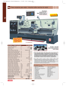 Torno industrial para metal / Industrial lathe machine for metal