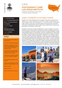 Aprender Inglés en Photography Camp Las Vegas