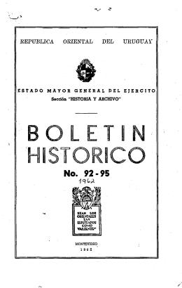 BOLETIN HISTORICO - La Biblioteca Artiguista