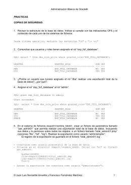 Prácticas resueltas del tema 10 (Copias de seguridad y recuperación)