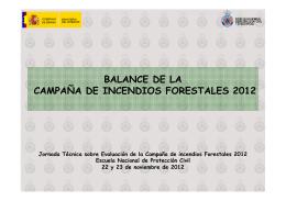 balance de la campaña de incendios forestales 2012